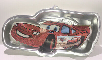 Wilton Disney Pixar Cars Lightning McQueen Cake Pan Mold Tin 2105-6400 • 6.38£