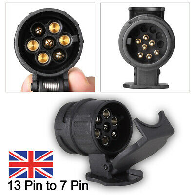 13 To 7 Pin Trailer Truck Electric Towing Converter Tow Bar Plug Adaptor Socket • 5.98£