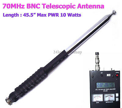 Ham Amateur Radio 4 Meter Band 70MHz QRP Portable VHF BNC Telescopic Antenna • 13.25£