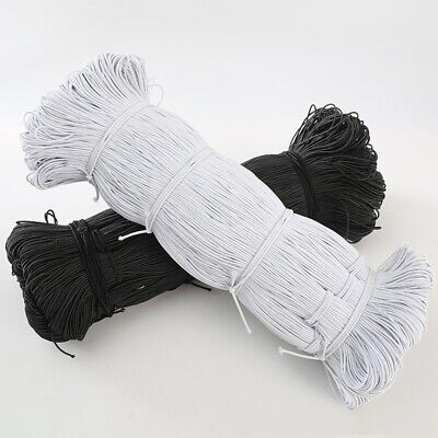 $ CDN3.87 • Buy New 5yds Wholesale 1MM/2MM/3MM White/black Thin Round Elastic Bands Sewing.