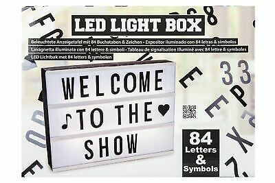 Illuminated Plastic Display Board With 84 Letters & Symbols Mat LED Light Box • 13.99£