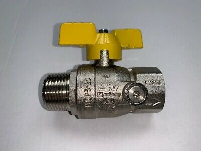 Brass Ball Valve Male X Female 1  BSP, Tee Handle For Water, Oil, Gas • 5£