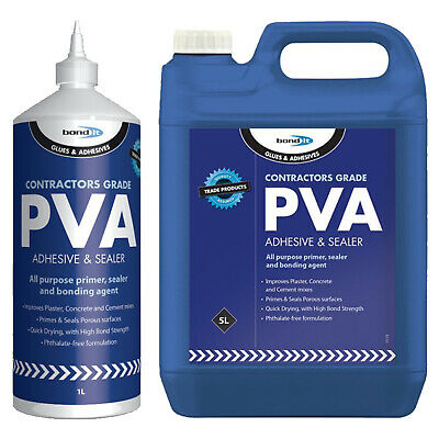 Bond It Contractors Grade PVA Adhesive & Sealer Primer Glue Agent Adhesive  • 6.49£