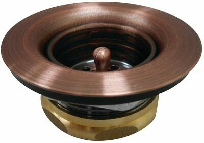 $34.10 • Buy Kingston Brass Tacoma Steel Bar Sink Duo Basket Strainer, Antique Copper New
