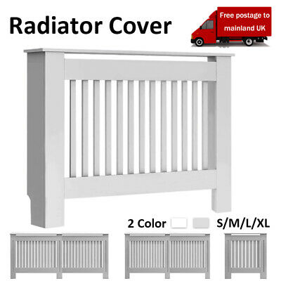 Radiator Cover Grey Modern Painted Wall Cabinet Vertical Grill MDF Furniture • 30.99£