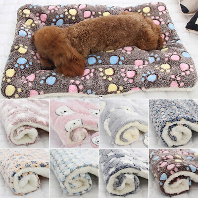 AU20.99 • Buy Pet Cat Dog Puppy Bed Fluffy Winter Blanket Mattress Thick Soft Cushion Mat AU