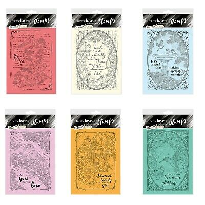 Hunkydory For The Love Of Stamps Clear Rubber Stamp-A-Card Making Craft Set • 8.99£