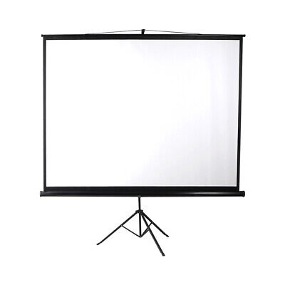 AU102.99 • Buy 100 Inch Projector Screen Tripod Stand Home Pull Down Outdoor Screens Cinema 3D