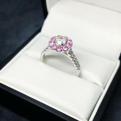 AU3000 • Buy Diamond And Pink Sapphire Cluster Ring