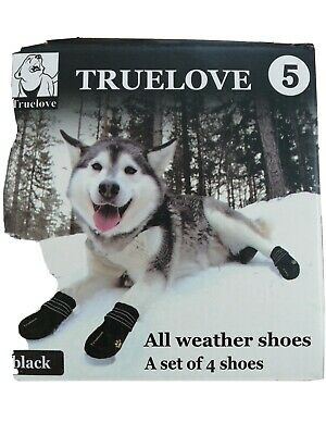 Truelove Waterproof Dog Shoes For Dogs Winter Summer Rain Snow Dog Boots • 18£