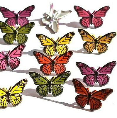 $2.25 • Buy BUTTERFLY BRADS Bugs Monarch Summer Spring Scrapbooking Card Making Stamping