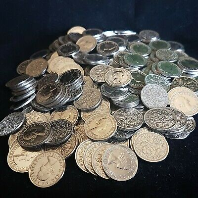 SIXPENCE Coins - Clean Shiny Best Quality Sixpences Wedding Gift Bulk Lot • 2.99£