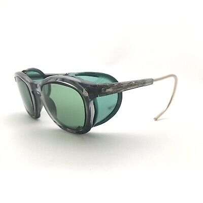$79.95 • Buy Vtg Gray Green American Optical AO Safety Glasses Side Safety Goggles Steampunk