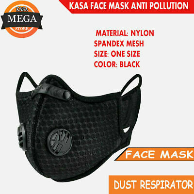 AU26.99 • Buy Anti Pollution N95 Face Mask Activated Carbon Dust Proof Facemask Safety Cover