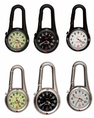 Carabiner Clip On Belt Watches. Sports Fob Watch-Doctors,Nurses,Sports,Hikers  • 7.65£