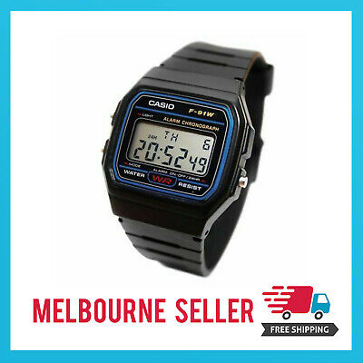 AU14.99 • Buy Casio Classic Digital Watch F-91W Unisex Retro Vintage *MELBOURNE STOCK*
