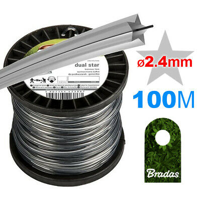 100m_WIRE CORD /// STAR STRIMMER LINE // Petrol Strimmers /// HEAVY DUTY_Ø 2.4mm • 14.99£