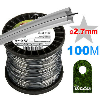 100m_WIRE CORD /// STAR STRIMMER LINE // Petrol Strimmers /// HEAVY DUTY_Ø 2.7mm • 16.99£