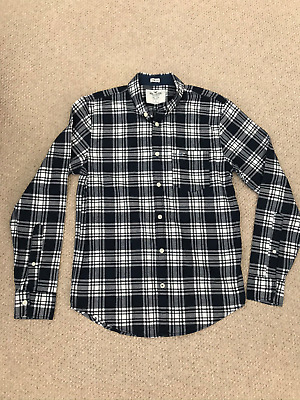 Hollister Blue Epic Flex Stretch Checked Shirt Size Small • 9£