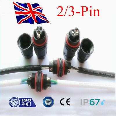 Waterproof Junction Box Electrical Cable Wire Connector Outdoors 240V Mains IP67 • 2.84£
