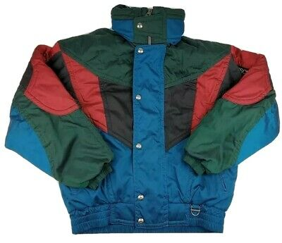 $34.99 • Buy Vintage Descente Men's Blue Green Red Shimmer Color Block Ski Snow Jacket M