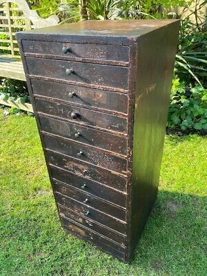Early 20th Century Watch Makers / Collectors Chest Of 12 Drawers • 425£