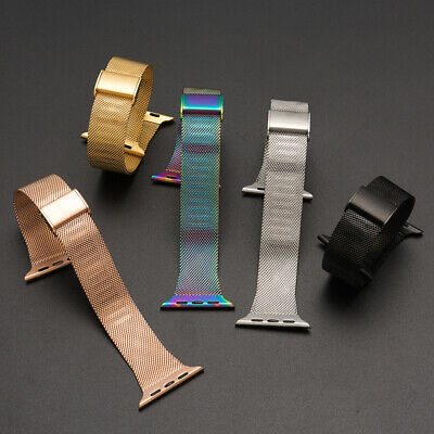 AU16.35 • Buy Milanese Loop For Apple Watch Band For Series 1-5 38 40mm 42mm 44mm Rainbow Band