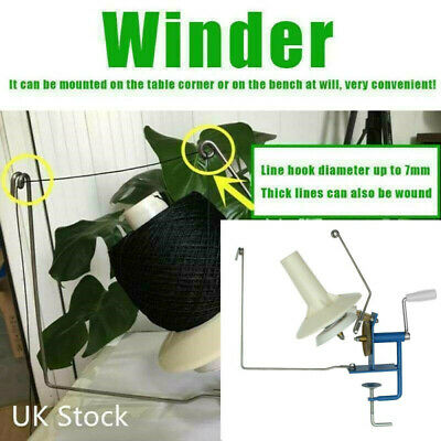 Metal Winder Machine Hand Operated Cable Winder Yarn Wool String Ball Knitting • 19.98£