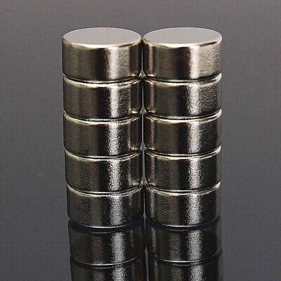 AU8.99 • Buy 10Pcs N52 10mm * 5mm  Super Strong Cylinder Round Rare Earth Neodymium Magnets
