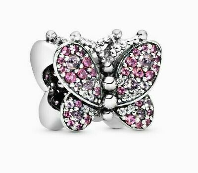Genuine Pandora ALE 925 Silver Dazzling Pink Butterfly Crystal 797882NCCMX • 15.99£