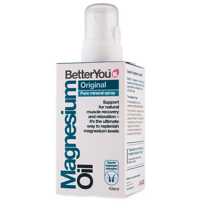 £10.99 • Buy BetterYou Magnesium Oil Original Spray 100ml Naturally Repairs & Relaxes Muscles