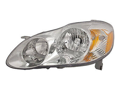 $65.14 • Buy Headlight Replacement For 2003 2004 Corolla S CE LE Sedan Left Driver Side