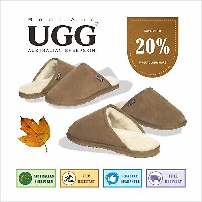 AU33.99 • Buy UGG Real Aus Mens Slippers Chestnut 6 7 8 9 10 11 12