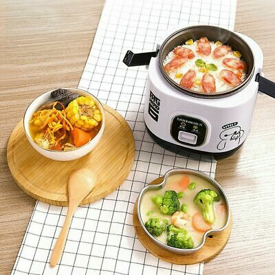 AU43 • Buy Electric Rice Cooker 1.2L Portable Mini Small Rice Cook 3 Cups For 1-2 Person