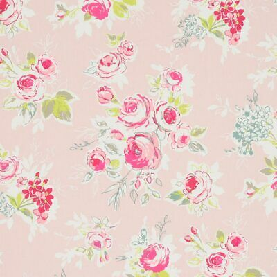 Clarke And Clarke Rose Garden Pink PVC WIPE CLEAN Tablecloth Oilcloth • 6.99£
