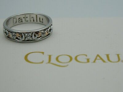 Clogau Silver & 9ct Rose Gold Tree Of Life Dathlu Topaz Ring RRP £129.00 Size Q • 79.95£