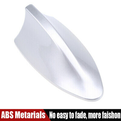 Silver Car Vechile Roof Radio AM/FM Signal Shark Fin Aerial Antenna Universal UK • 8.29£