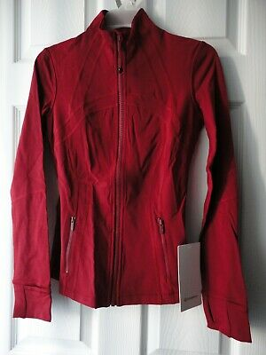$ CDN159 • Buy NWT Lululemon Define Jacket Luxtreme  Dark Sport Red LW4AWTS - DKSR Size 4
