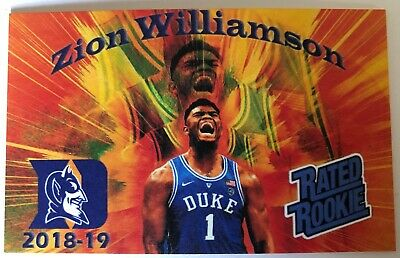 $2.49 • Buy ZION WILLIAMSON Duke 2018-19 Rated Rookie Thick Mini Card $$