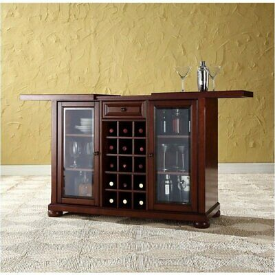 $702.37 • Buy Pemberly Row Sliding Top Home Bar Cabinet In Vintage Mahogany