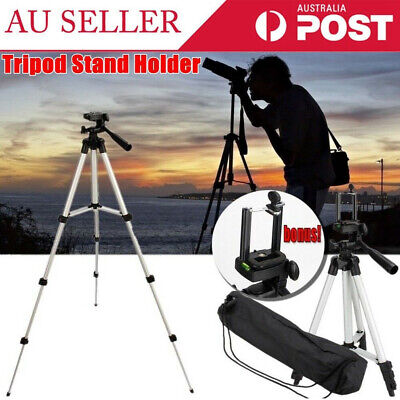 AU14.33 • Buy Universal Telescopic Camera Tripod Stand Holder Mount For Phone IPhone Samsung