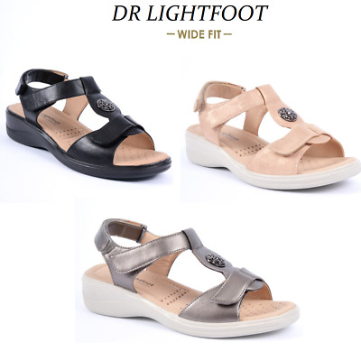 Ladies Orthopedic Diabetic Wide Fit Comfort Cushion Shoes Summer Wedge Sandals • 16.98£