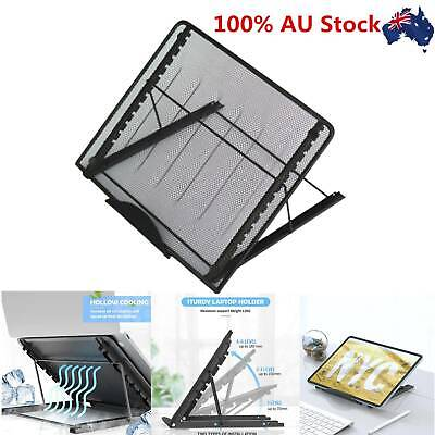 AU19.89 • Buy Metal Ventilated Adjustable Laptop Stand Portable Lazy Foldable Computer Desk AU