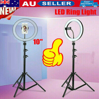 AU55.99 • Buy 10  Dimmable LED Ring Light Selfie MakeUp Lamp Video Lighting Phone Youtube Live