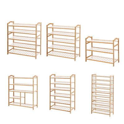 AU33.99 • Buy Levede Bamboo Shoe Rack Storage Wooden Organizer Shelf Shelves Stand 3-10 Tier