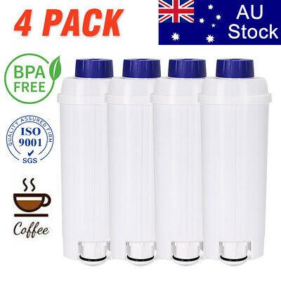 AU41.79 • Buy 4X Coffee Machine Water Filter For Delonghi ECAM 45.760 Eletta Cappuccino Top AU