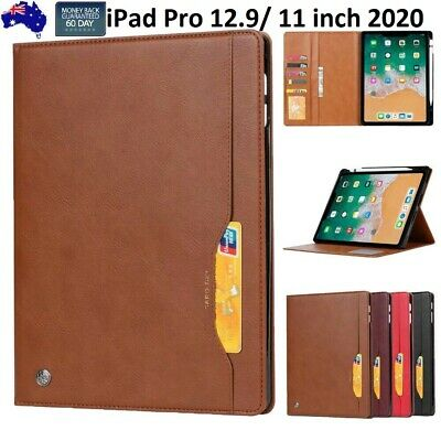 AU33.99 • Buy For IPad Pro 12.9 11 Inch 2020 Leather Smart Folio Case Cards Pen Holder Cover