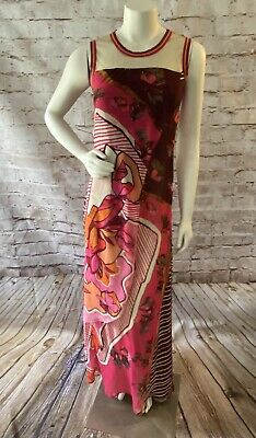 AU85.21 • Buy Awesome Save The Queen Multi Colored Tulle Mesh Maxi Dress Small
