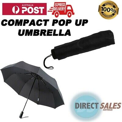 AU15 • Buy Automatic Compact Pop Up Umbrella Black | BRAND NEW! NEXT DAY DISPATCH