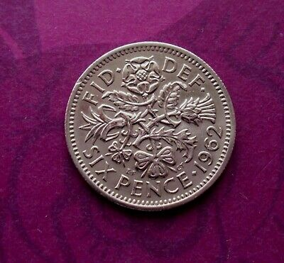 1962 Sixpence Coin Circulated • 1.89£